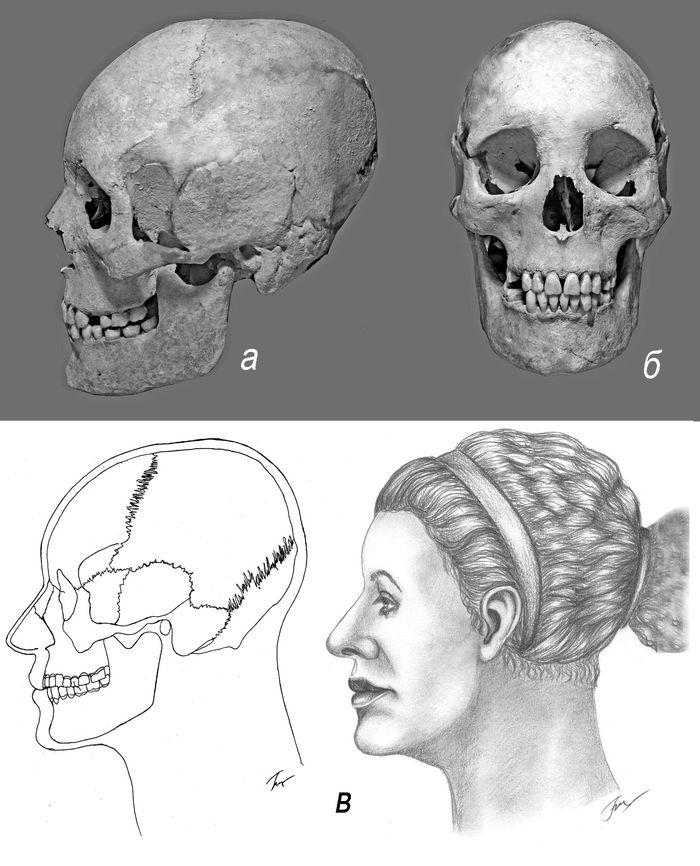 Женщина  античной эпохи из Широкой Балки